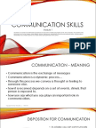 Communication Skills - Module 1