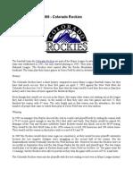 Fantasy Baseball 2009 - Colorado Rockies