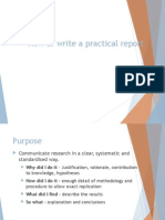 How to Write a Practical Report