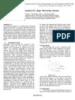 Design & Analysis of C shape Microstrip Antenna