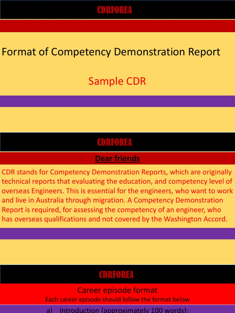 competency demonstration reports for civil engineer