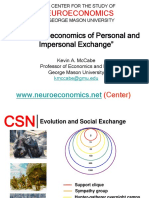 The Neuroeconomics of Personal and Impersonal Exchange McCabe