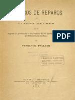 Pausen, Fernando - Reparos de Reparos