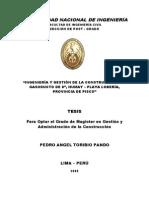 """""""Ingeniería y Gestión de La Construcción Del Gasoducto"""