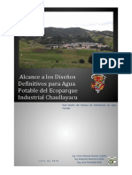 Alcance a Los Disenos Definitivos de Agua Potable Del Ecoparque Industrial Chaullayacu