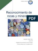 Reconocimiento de Rocas y Minerales