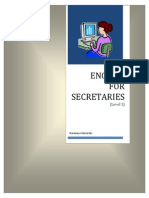 English for Secretaries Part 1 March 2012