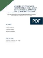 Aplicación de Un Innovador Sistema Constructivo en La Nueva Sede Institucional Del Banco de La Nación