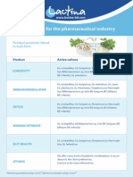 Probiotics for the Pharmaceutical Industry