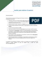 Información Para Realizar El Examen_ESP