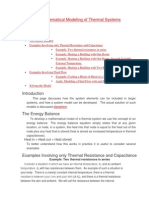 Math Modeloing of Thermal Systems1