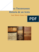 Codex theodosianus, historia de un texto