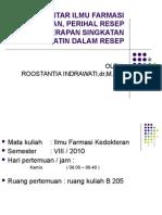 Kuliah Perihal Resep Uwk 2010