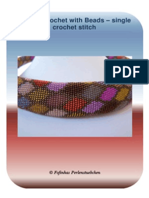 Tubular crochet with Beads – single crochet stitch