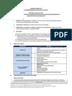 Convocatoria Cas 223-2015