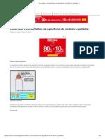 Como Fazer a Correta Leitura de Capacitores de Cerâmico e Poliéster