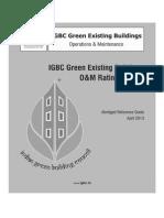 IGBC Green EB O&M Rating System (Pilot Version)