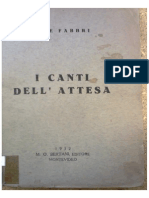 Fabbri, Luce. I Canti Dell'Attesa 1932
