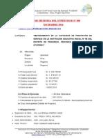 Informe Memoria Del Supervisor n