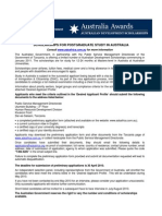 Austalia Scholarship