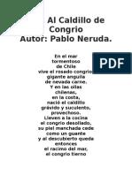 Pablo Neruda - Oda Al Caldillo de Congrio