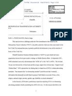American Freedom Defense Initiative v MTA - Opinion July 20 2012