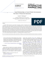 Fostering Consumer–Brand Relationships in Social Media Environments