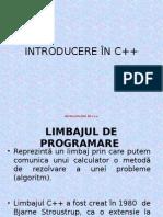 INTRODUCERE ÎN C++
