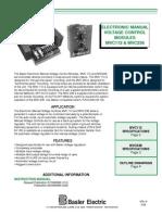 Basler Electric MVC112 Electronic Manual Voltage Control Module Datasheet1-1606813999