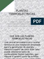 Plantas termoelectricas