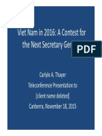 Thayer Vietnam's 12th National Party Congress NEW 29 Dec 2015