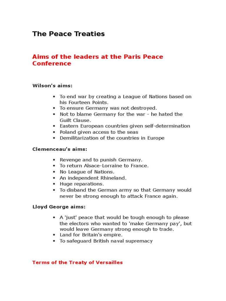 The Peace Treaties | German Empire | World War I Reparations