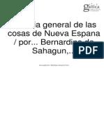 Historia General de las cosas de Nueva España