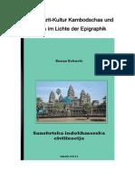 Die Sanskrit Kultur Kambodschas und Indiens im Lichte der Epigraphik