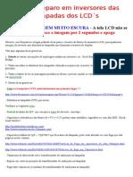 Defeito típico em Inversores de Lâmpadas LCD