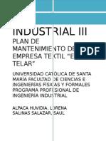 Plan de Mantenimiento de La Empresa Textil Lore