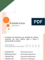 [Dornélio] Exercícios - Interpolação.ppt