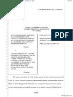 Tacoma District Court Order Denying Defendants' Motion to Dismiss