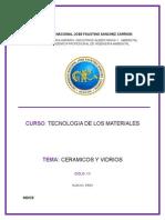 Ceramicos y Vidrios ( Tecnologia de Los Materiales )
