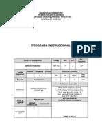 Programa Instruccional Derecho Romano I
