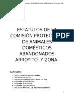 Estatutos de La Comisiòn Protectora de Animales Domésticos Abandonados Arroyito y Zona