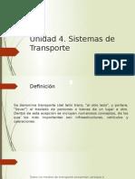 Unidad 4 sistemas de transportes