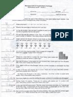 2015 Metrobank-MTAP-DepEd Math Challenge Elimination Grade 1