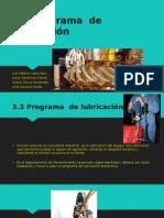 Programa de lubricación y auditoria de lubricación