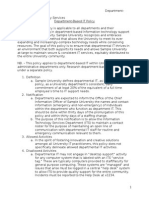Department IT Sample Policy