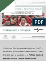 Proyecto a Favor de La Convicencia Escolar PACE