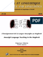 Langues Et Linguistique-libre