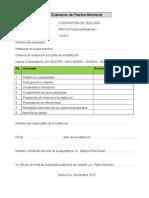 Evaluación de Práctica Ministerial