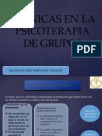 Técnicas en La Psicoterapia de Grupos