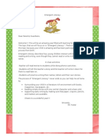 emergent literacy parent letter
